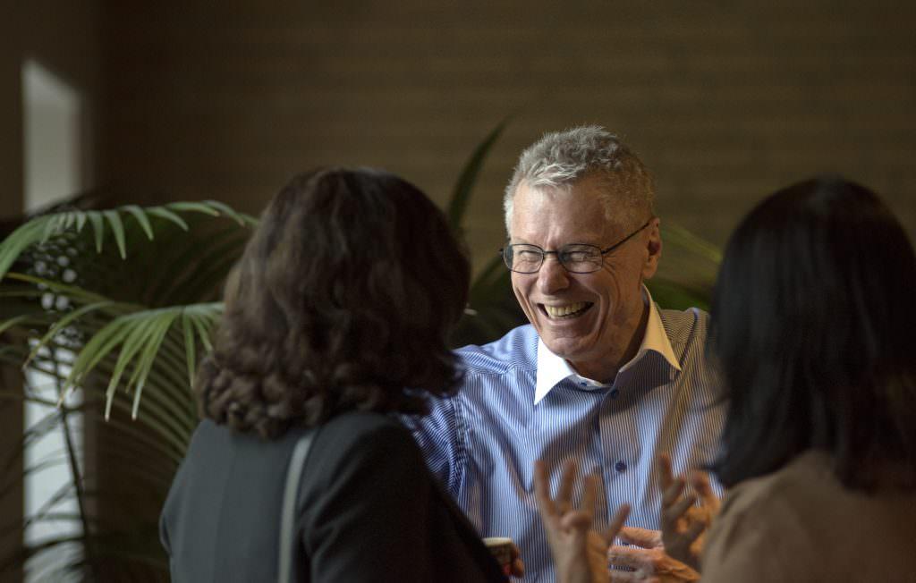 Bo Dahlbom, professor, filosof, datalog. Efter föreläsning på Burgårdens konferens.