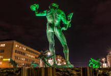 Skulpturen Poseidon i Göteborg