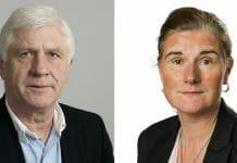 Regionstyrelsens ordförande Johnny Magnusson (M) och vice ordförande Helén Eliasson (S)