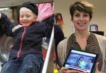 Barn i ruttschkana och lärare Jenny Nyass
