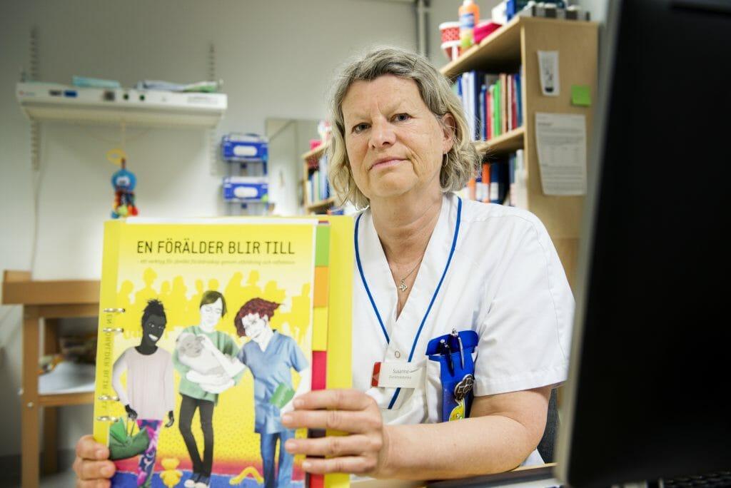 Susanne Broberg sjuksköterska på BVC i Dals Ed. Foto: Kent Eng