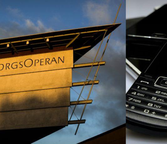 GöteborgsOperan samlar in gamla mobiltelefoner. Foto: Mats Bäcker