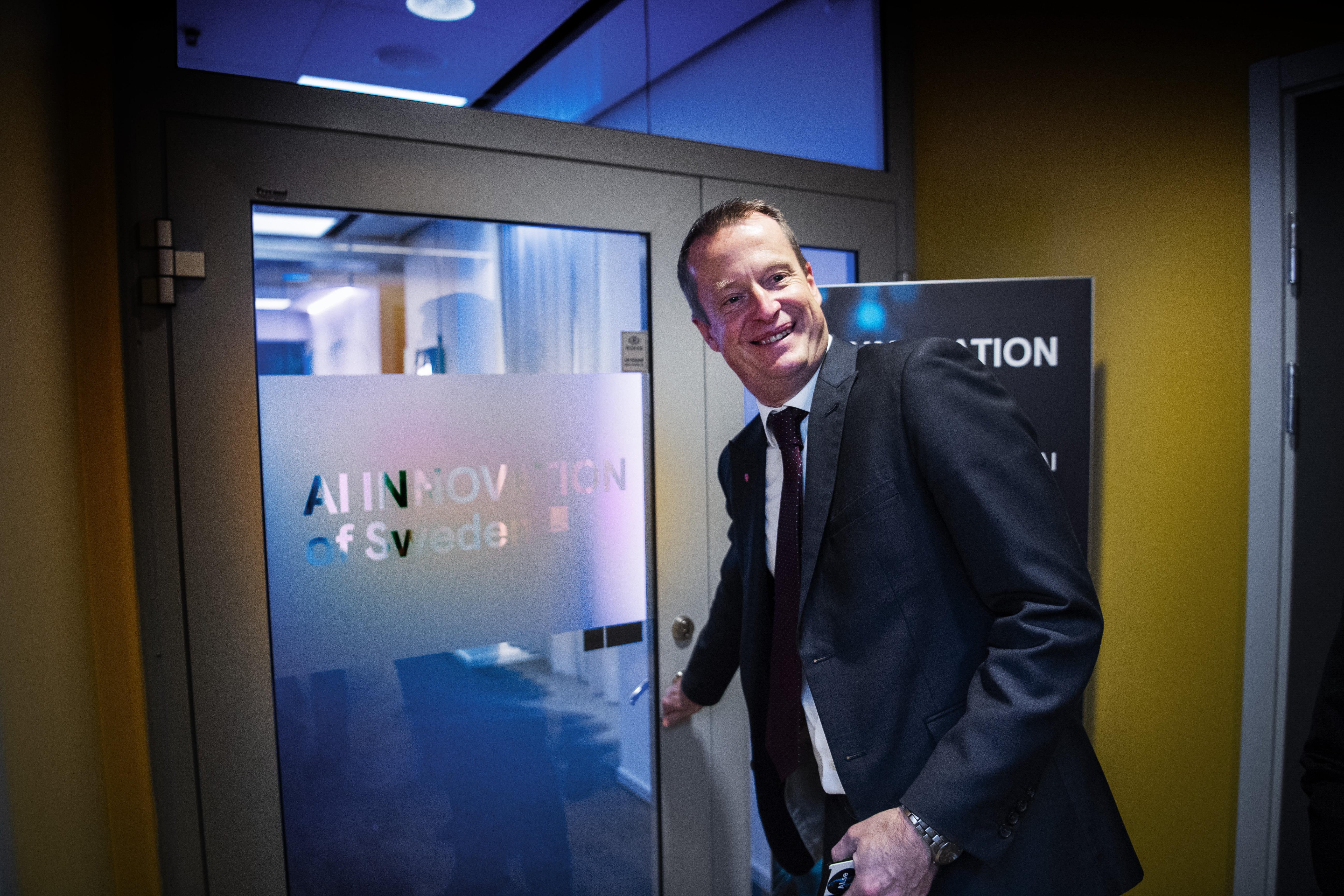 Energi- och digitaliseringsminister Anders Ygeman var på plats för att öppna det nationella centret,