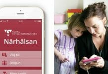 Närhälsan Online i mobilen