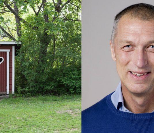 Smittskyddsläkare Peter Ulleryd och ett somrigt utedass