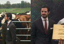 Prins Carl Philip invigde den toppmoderna anläggningen där det bland annat forskas på hållbar produktion av nöt- och lammkött. Foto: Robin Kalmendal