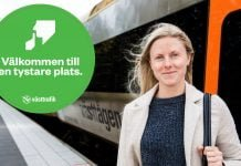 Anna Olausson som pendlar mellan Göteborg och Vänersborg gillar de tystare platserna. Foto: Kent Eng.