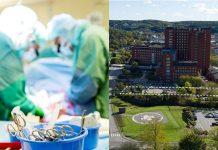 Här byggs det nya toppmoderna operationscentret vid Uddevalla sjukhus. När bygget är klart kan patienter från hela Västra Götaland få sin operationer utförda här.