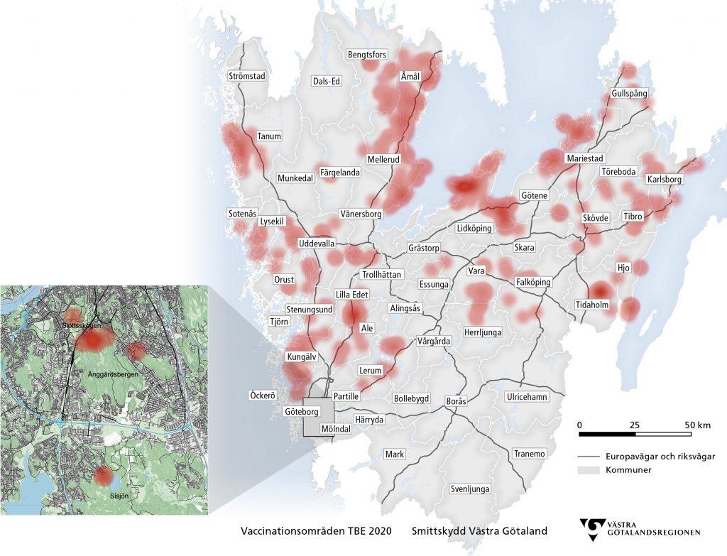 TBE-karta Västra Götaland