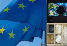EUflagga, dataspelande och textilåtervinning.