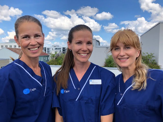 Elin Magnusson, Sofie Lindberg, Elvira Heldic, Capio rehab.
