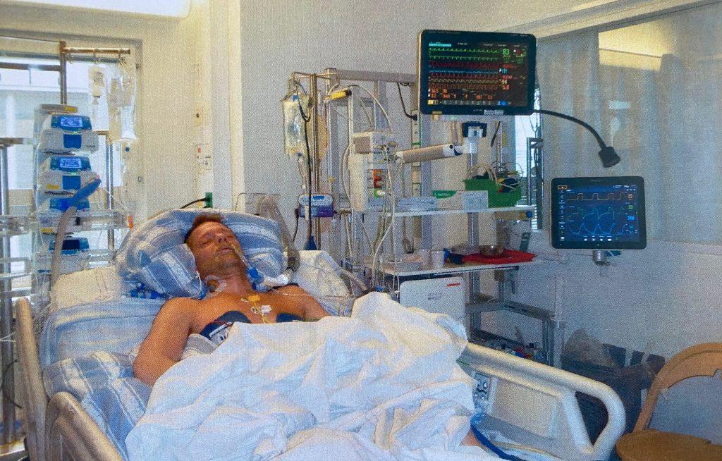 Mattias låg nedsövd i sex dagar efter hjärtstoppet. När han vaknade hade han ingen aning om vad som hade hänt.