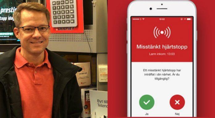 Mattias Kurlberg fick hjälp av en SMS-livräddare när han drabbades av ett plötsligt hjärtstopp. Nu permanentas verksamheten i VGR.