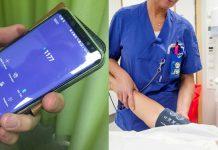 mobiltelefon och vårdmöte