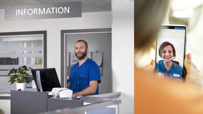 Folktandvården tar emot i stort sett som vanligt både på klinik och via videomöte.