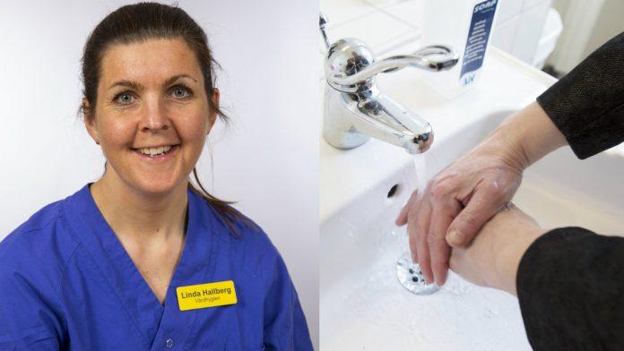 Minskningen av vinterkräksjuka och säsongsinfluensa tros bero på att många blivit bättre på att tvätta händerna berättar Linda Hallberg, hygiensjuksköterska på Vårdhygien Södra Älvsborgs sjukhus.