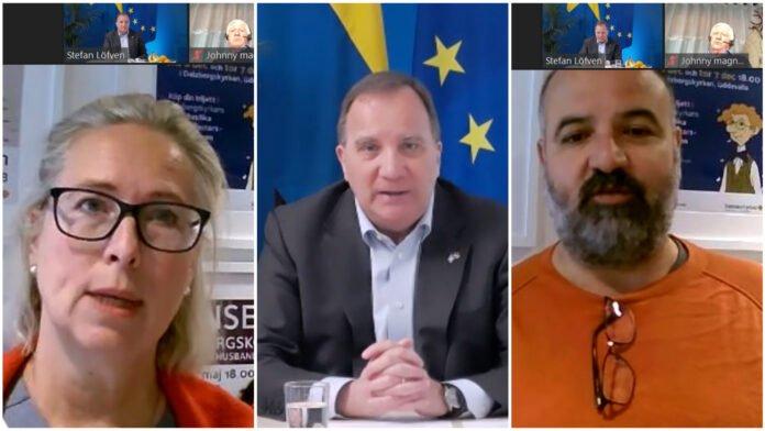 Vårdcentralschef Katharina Garcia Blüme och Charhabil Harfacha, Islamiskt Center berättade för statsminister Stefan Löfven om sitt samarbete.